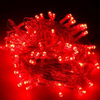 Mabuhay Star 100 LED String Christmas Lights (Red)
