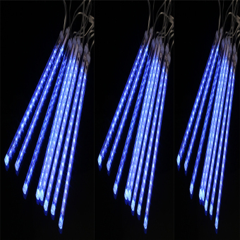 Mabuhay Star 30cm Meteor Rain Tube LED Lights SET OF 3 (Blue)