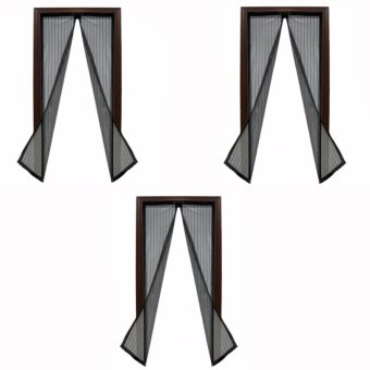 Magic Mesh Instant Screen Door (Black)Set of 3