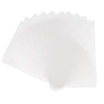 MagiDeal 10 Pieces Clear Shrink Film Sheets Shrinkable Paper forCrafts Rough Polish - intl