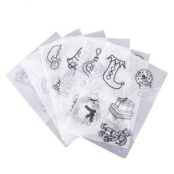 MagiDeal 6 Pieces Assorted Pattern Shrink Film Shrinkable Paper Christmas Decoration - intl