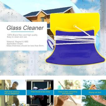 Magnetic Window Double Side Glass Wiper Cleaner Cleaning Brush Pad Scraper