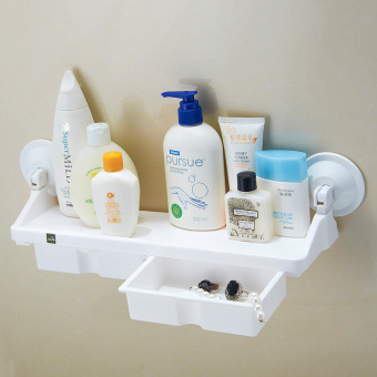 Maikeju suction cup bathroom toilet storage rack shelf