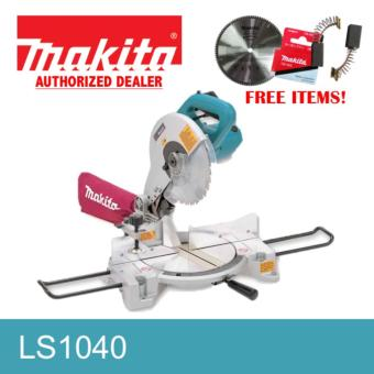 Makita LS1040 Miter Saw W/ FREE 120 teeth Makita Miter Saw Blade and Carbon Brush