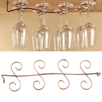 Makiyo Kitchen 8 Wine Glass Rack Stemware Under Cabinet HolderHanger Shelf - intl Price Philippines