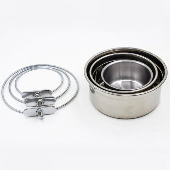 Makiyo Stainless Steel Hang Type Dog/Cat Bowl, Heat-Resistant PetsPot, Silver Color(S) - intl Price Philippines