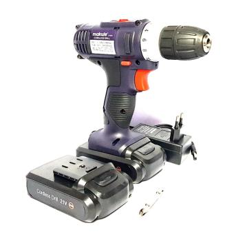 Makute 21V Li-ion Cordless Drill with Extra Battery Pack CD005 (Blue)