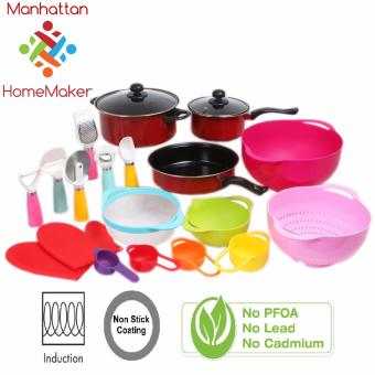 Manhattan Homemaker 20-Piece Set Non Stick Cookware InductionFriendly