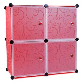 Manhattan Homemaker 4 Door Extra Large Storage Cabinet (Red) - picture 2