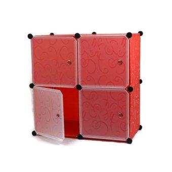 Manhattan Homemaker 4 Door Extra Large Storage Cabinet (Red)
