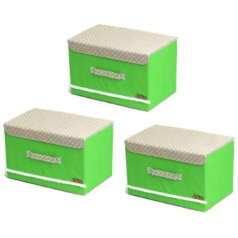 Manhattan Homemaker Collapsible Storage Box Set of 3 (Green)
