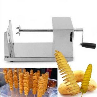 Manual spiral potato chips twister slicer cutter tornado twistmachine utensilios de cocina cortador for batata espiral - intl