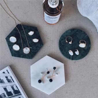 Marble hexagonal coasters