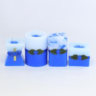 Marzen Mini Scented Candles Set of 4
