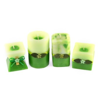 Marzen Mini Scented Candles Set of 4 (Green)