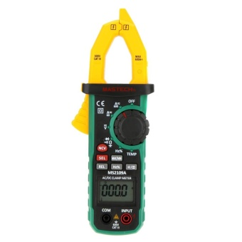 MASTECH MS2109A Auto Ranging Digital AC/DC Clamp Meter FrequencyCapacitance Temperature & NCV Tester - intl