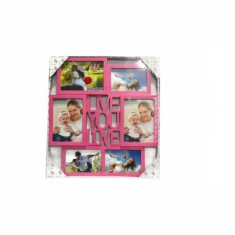 Me You Love Design Collage Picture Frame (Pink)