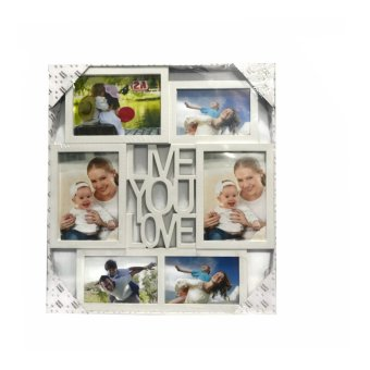 Me You Love Design Collage Picture Frame (White)