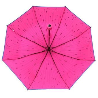 Medc-three folds Attractive umbrella printed (Neon Pink) - picture 2