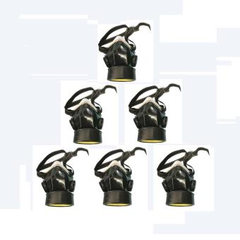 Meisons chemical respirator gas mask single (6pcs)