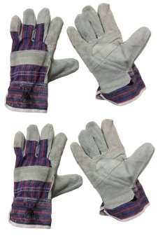 Meisons working gloves cow split leather palm (2 pairs)