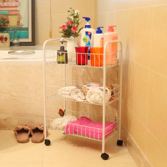Meiyijie toilet mobile storage rack bathroom shelf