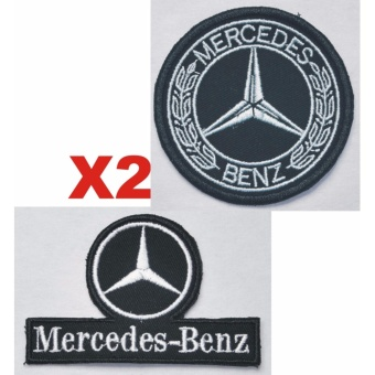 Mercedes Benz Classic Laurel Embroidered Cloth Patch Set (Get 2) Price Philippines