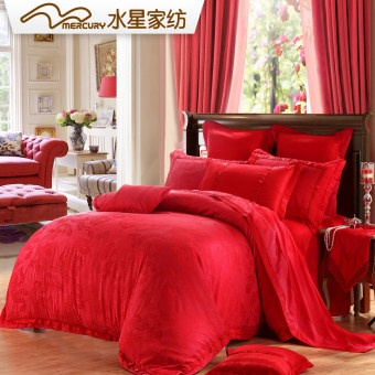 MERCURY Jacquard red wedding than wing ten sets