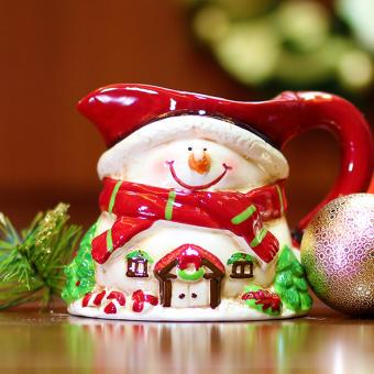 Merry & Bright Collectible Snowman Christmas Mini Pitcher
