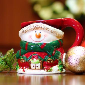Merry & Bright Collectible Snowman Grande Mug (Red)