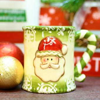 Merry & Bright Collectible Stripes Holder Mug Set of 3 - 3