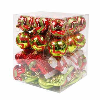 Merry & Bright Festive Vintage Style Christmas Ball OrnamentSet - 2