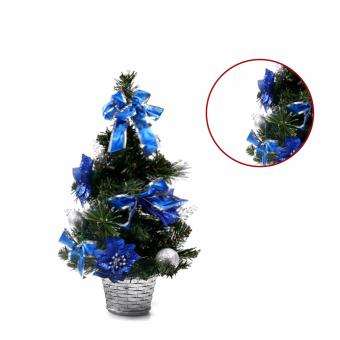 Merry & Bright Mini Mini Christmas Tree with Christmas Accessories Ornaments (Blue)