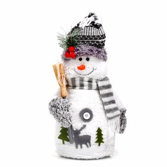 Merry & Bright Snowman Stuff Stripes Scarf with Broomstick