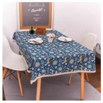 Merry Christmas Elk Wapiti Rectangular Printed Fabric Tablecloth 140*180cm BU - intl - picture 2