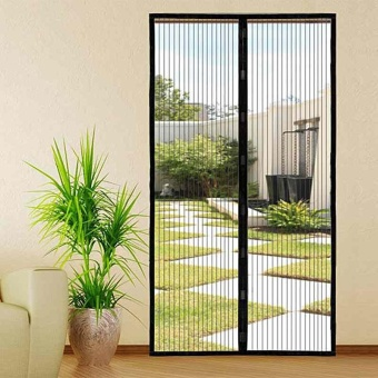 Mesh Hands-Free Screen Net Door Magnetic Anti Mosquito Fly Bug DoorCurtain - intl