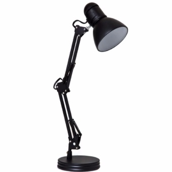 Metal adjustable arm work desk lamp table lamp black lazada ph metal adjustable arm work desk lamp table lamp black aloadofball Image collections