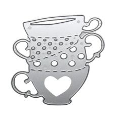 Metal Tea Cup Cutting Dies Stencils Embossing DIY ScrapbookingPaper Card - intl