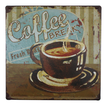 Metal Tin Sign Large (Coffee Break)