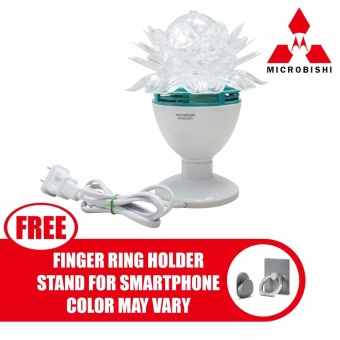 Microbishi Led Crystal Magic Ball Light for Party Disco DJ MD-999Flower Design with free Finger Ring Mobile Phone Smartphone HolderStand for iPhone (Color May Vary)