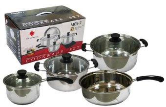 Micromatic High Quality Stainless Steel Cookware Set 7pcs