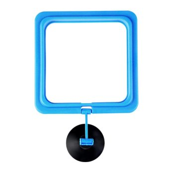 Mini Fish Tank Aquarium Fish Feeder Feeding Ring Floating FoodCircle Square Style - intl