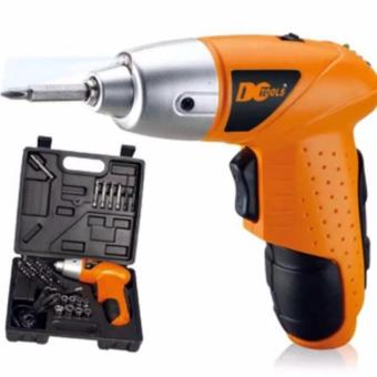 Mini Portable Electric Drill Cordless Screwdriver 45pcs TOOLs (Orange)