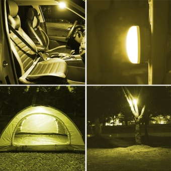 Mini Waterproof Tents Lights Super Bright Portable Outdoor LEDCamping Lights Camping Lights With a Small Iron Hanging Lights(Without Batteries) - intl