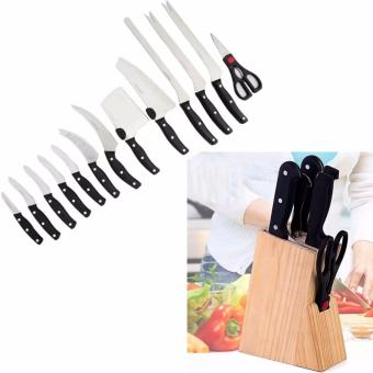 Miracle Blade World Class 13-piece Knife Set With CreativeWoodStand Knife 8in1 Holder Block Storage Rack Kitchen Multi-function