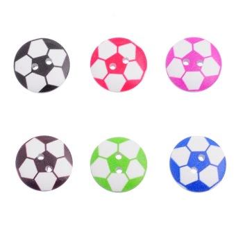 Mixed Football Wooden Buttons 20mm