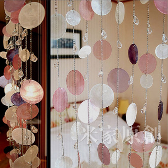 MJ finished product crystal bedroom door curtain Shell bead curtain Price Philippines