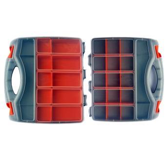 Model R237 Tool Box / Jewelry Box / Organizer / Cash Box Doublesize (Grey) - 3