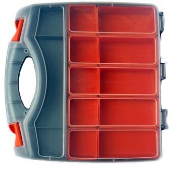 Model R237 Tool Box / Jewelry Box / Organizer / Cash Box Doublesize (Grey) - 4