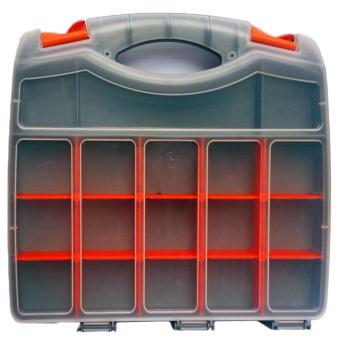 Model R237 Tool Box / Jewelry Box / Organizer / Cash Box Doublesize (Grey) - 5